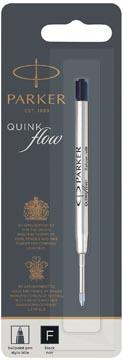 Parker Quinkflow vulling voor balpen fijn, zwart, op blister