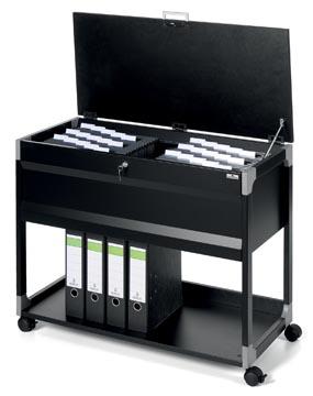 Durable hangmappenwagen System 100 multi top, zwart