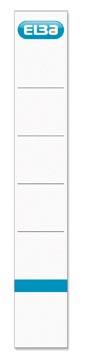 Elba Rugetiketten Ft 19 x 3 cm, wit, 10 stuks