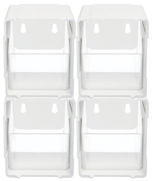 Deflecto sorteer kantelbakje wit, pak met 4 stuks