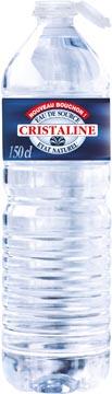 Cristaline water, fles van 1,5 liter, pak van 6 stuks