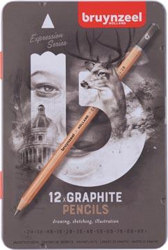 Bruynzeel grafietpotlood Expression, doos van 12 stuks