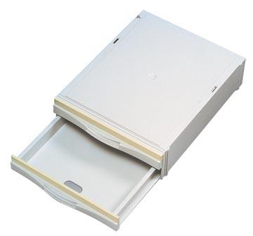 Atlanta+ stapelcassette met 2 halfhoge laden, binnen ft 3,5 x 25,2 x 34,5 cm