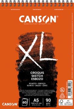 Canson schetsblok XL ft 14,8 x 21 cm (A5), blok van 60 blad