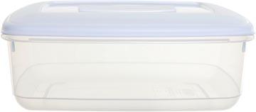Whitefurze vershouddoos rechthoekig 2 liter, transparant met wit deksel