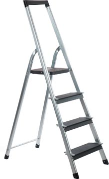 Galico trapladder aluminium power step, 4 treden