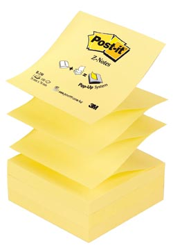 Post-it Z-Notes navullingen, geel, blok van 100 vel