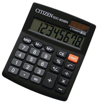 Citizen Allrounder bureaurekenmachine SDC-805BN, zwart