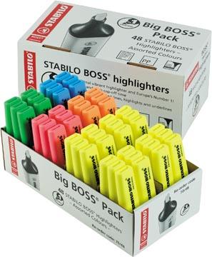 STABILO BOSS ORIGINAL markeerstift, pak van 48 stuks in geassorteerde kleuren